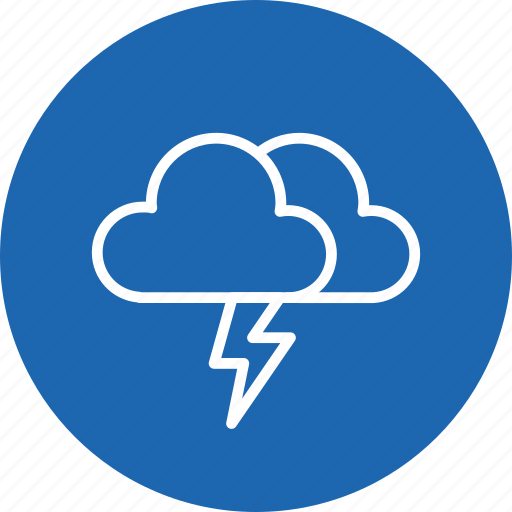 cloud, clouds, cloudy, forecast, lightning, thunder, weather icon