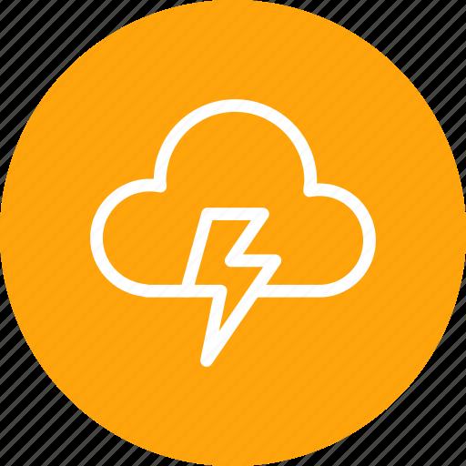 cloud, cloudy, forecast, light, lightning, thunder, weather icon