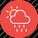 cloud, cloudy, forecast, partlysun, rain, thunder, weather