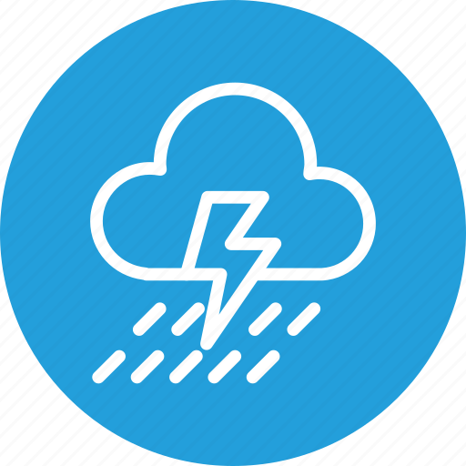 cloud, cloudy, forecast, lightning, rain, thunder, weather icon