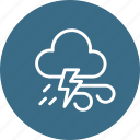 cloudy, forecast, lightning, thunder, weather, wind icon