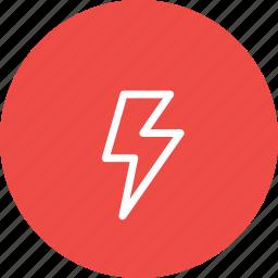 crash, electricity, forecast, lightning, storm, thunder, weather icon
