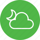 cloud, cloudy, dark, forecast, moon, night, weather icon