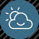 cloud, cloudy, morning, smiley, sun, sunrise, weather