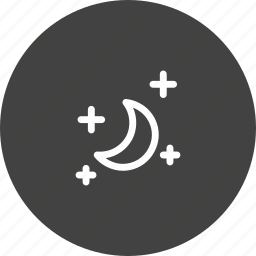 dark, galaxy, half, moon, night, star, weather icon