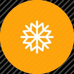 flake, heavy, nature, snow, snowfall, snowflake, weather icon