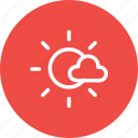 cloud, forecast, nature, sky, sun, sunny, weather icon