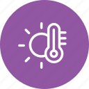 forecast, heat, measure, shine, sun, temperature, weather icon