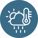 cloud, cloudy, forecast, rain, sun, temerature, weather icon