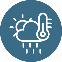 cloud, cloudy, forecast, rain, sun, temerature, weather icon
