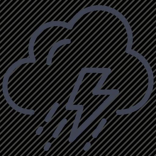 cloud, forecast, lightening, rain, storm, weather icon