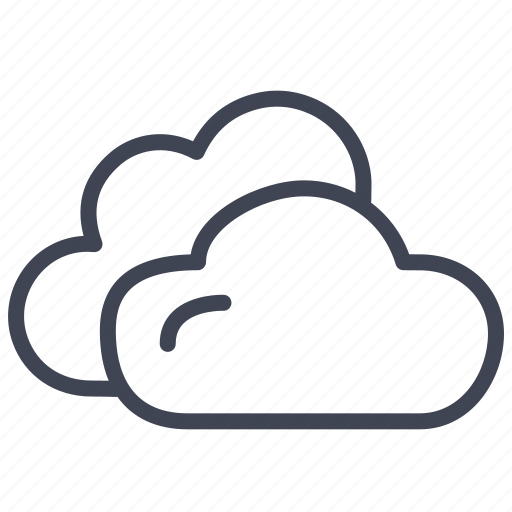 cloud, clouds, cloudy, forecast, weather icon