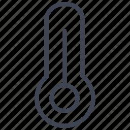 five, heat, hot, seventy, temperature, thermometer icon
