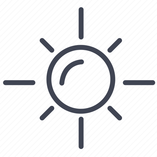 forecast, sun, sunny, temperature, weather icon