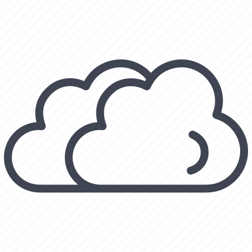 cloud, clouds, cloudy, forecast, small, weather icon