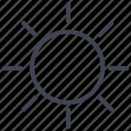 forecast, sun, sunny, temperature, weather icon