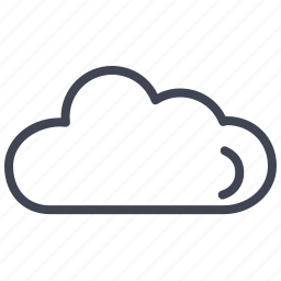 cloud, clouds, cloudy, forecast, large, weather icon