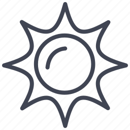 forecast, star, sun, sunny, temperature, weather icon
