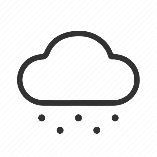 cloud, cloudly, snow, snow icon icon