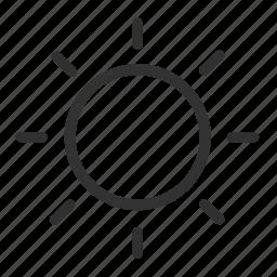 light, summer, sun, sunning icon