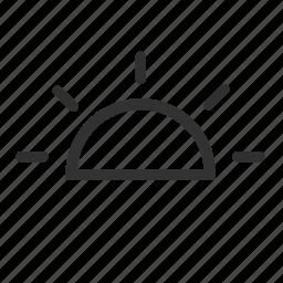 night, sun, sunset, sunset icon icon