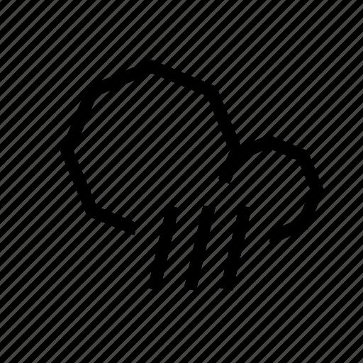 cloud, pour, rain, weather icon