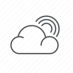cloud, forecast, rainbow, weather icon