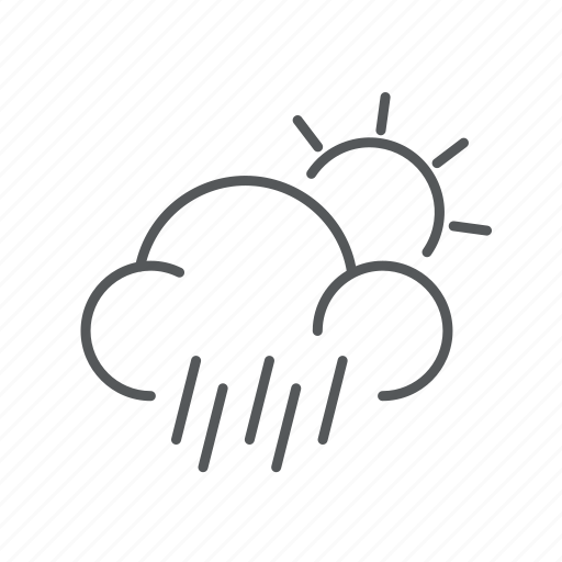 cloudy, drizzle, forecast, weather icon