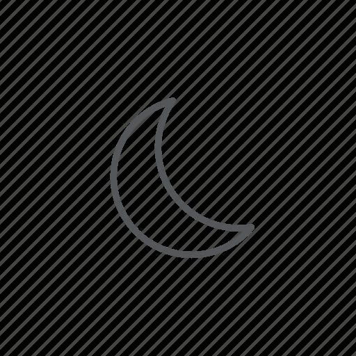 forecast, moon, weather icon