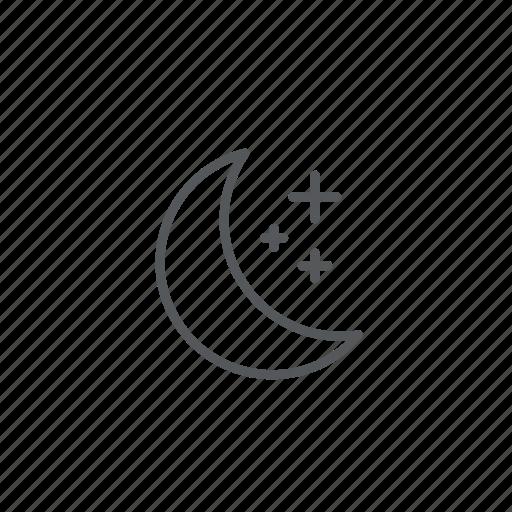 forecast, freeze, moon, weather icon