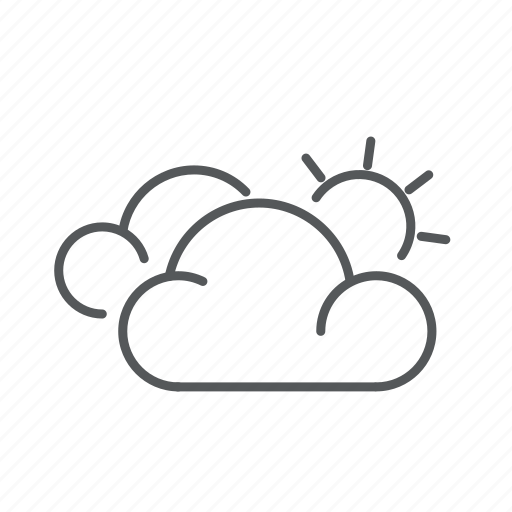 cloudy, forecast, mostly, weather icon