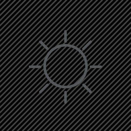 forecast, sun, weather icon