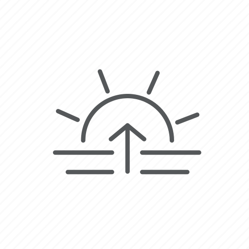 forecast, sea, sunrise, weather icon
