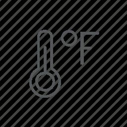 fahrenheit, thermometer icon