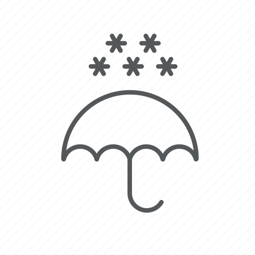 snow, umbrella, weather icon