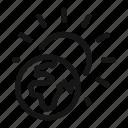 earth, global, heat, planet, sun, sunny, warming icon