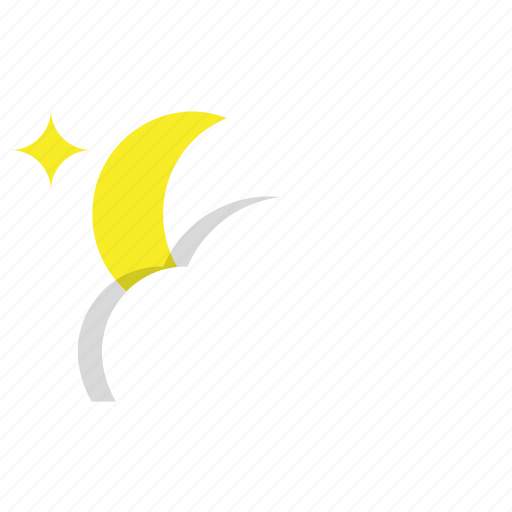 cloud, cloudy, night, night cloudy weather, weather icon