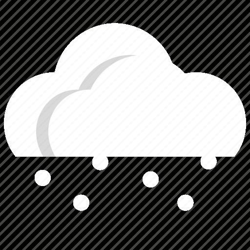 cloud, snow, snowfall, weather icon