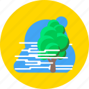 fog, foggy, forecast, haze, mist, tree, weather icon