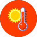 heat, hot, measurement, temperature, thermometer, warm, weather icon