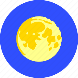 clear sky, forecast, full moon, moon, night, weather icon