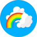 rainbow, clouds, cloudy, forecast, rain, summer, weather