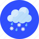 clouds, forecast, ice, sleet falls, snowflake, tempest, weather icon