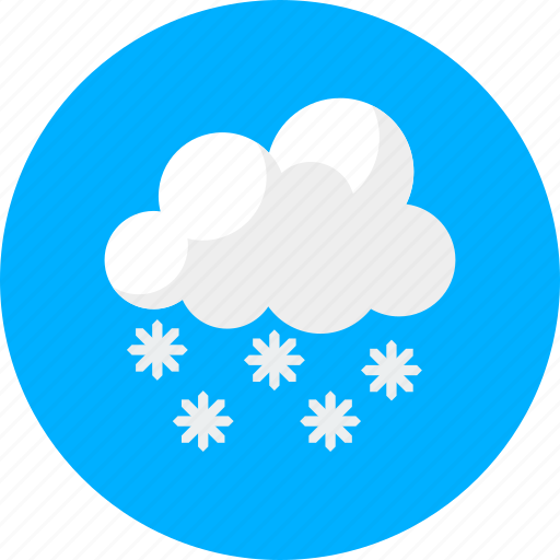 cloudy, cold, forecast, is snowing, snow, weather, winter icon