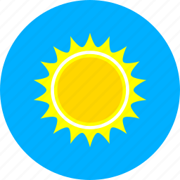 forecast, hot, summer, sun, sunny, temperature, weather icon