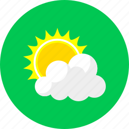 cloud and sun, cloudy, forecast, summer, sun, sunny, weather icon