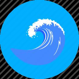 marine, nautical, sea, surf, surge, water, wave icon