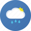 cloud, rain, sun, weather icon
