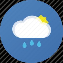 cloud, rain, sun, weather icon