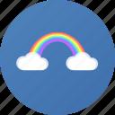 rainbow, weather